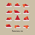 Santa hat flat icon illustration of Royalty Free Stock Photography