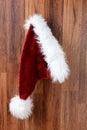 Santa Hat Hanging on a Wall Royalty Free Stock Photo