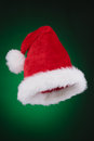 Santa hat ready to use isolated on green to black gradient Royalty Free Stock Photo