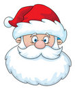 Santa head Royalty Free Stock Images