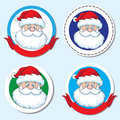 Santa head sticker Stock Photos