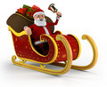 Santa in his sleigh Stock Images