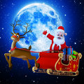 Santa with his sleigh Royalty Free Stock Photography