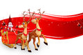 Santa with his sleigh Royalty Free Stock Photo