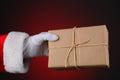 Santa Holding a Parcel Royalty Free Stock Image