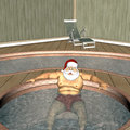 Santa Hot Tub 1 Royalty Free Stock Image
