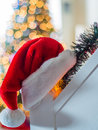 Santa hung up his hat year Royalty Free Stock Photos