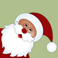 Santa isolated popping our from side copyspace above Royalty Free Stock Image