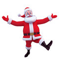 Santa is jumping with joy Royalty Free Stock Image