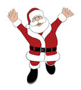 Santa Jumping for Joy Stock Photos