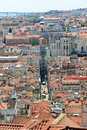 Santa Justa Elevator, Baixa district, Lisbon Stock Image
