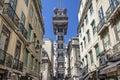 Santa Justa Elevator Baixa Lisbon Royalty Free Stock Photo