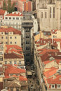 Santa justa elevator lift elevador de lisbon portugal Royalty Free Stock Photos