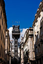 Santa Justa Elevator in Lisbon Royalty Free Stock Photo