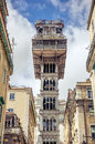 Santa justa elevator in lisbon portugal Royalty Free Stock Photography
