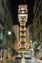 Santa Justa lift Baixa Lisbon Royalty Free Stock Photo