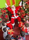 Santa with kids Royalty Free Stock Photo