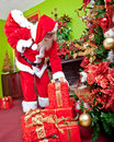 Santa leaving presents Stock Photography