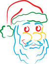 Santa line art Royalty Free Stock Photos