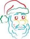 Santa line art Royalty Free Stock Photos