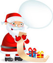 Santa with a Lis Stock Images
