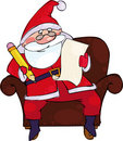 Santa with the list Royalty Free Stock Photo