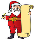 Santa With List Royalty Free Stock Images