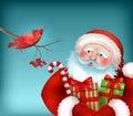 Santa Is Listening To The Bird...
