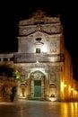 Santa lucia alla badia church at night syracuse sicily italy the siracusa Royalty Free Stock Photo