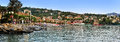 SANTA MARGHERITA LIGURE, ITALY - August 27, 2016: Panoramic view of , evening promenade Royalty Free Stock Photo
