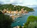 Santa margherita panoramic view of the marine bay Stock Photo