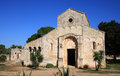 Santa maria abbey in cerrate near lecce italy this romanesque dating back to the th century soars majestically the countryside Stock Image