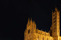 Santa maria assunta dome siena in night photography Royalty Free Stock Photo