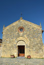 Santa maria church in the old town of monteriggioni italy this located piazza roma was built th century Stock Photo