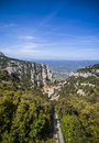 Santa maria de montserrat abbey catalonia spain beautiful mountain view to Stock Photography