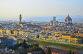 Santa Maria del Fiore and Arno River of Florence Stock Photo