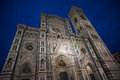 Santa Maria del Fiore Cathedral, also called Duomo, at night Royalty Free Stock Photo