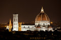 Santa Maria del Fiore, the Florence Duomo by night Royalty Free Stock Photo