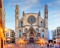 Santa Maria del Mar church in Barcelona Royalty Free Stock Photo