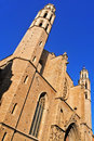 Santa Maria del Mar Church in Barcelona, Spain Stock Photo