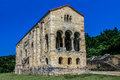 Santa maria del naranco church of in asturias spain Royalty Free Stock Photo