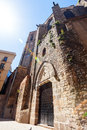 Santa maria del pi barcelona spain at gothic quarter Stock Image