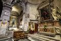 Santa Maria del Popolo Church. Right aisle. Rome. Italy Royalty Free Stock Photo