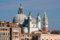 Santa Maria della Salute church in Venice Stock Images