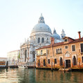 Santa maria della salute at early morning venice Royalty Free Stock Image