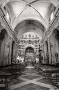 Santa maria di betlem sassari sardinia interior of church of in city of Stock Image