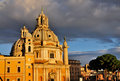 Santa Maria di Loreto in the Afternoon Sun Royalty Free Stock Images