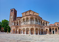 The santa maria e donato church of murano italy venice it s first foundations were built in th century in romanesque style Stock Photography