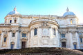 Santa maria maggiore rome basilica di in closeup view from direction of piazza esquilino Royalty Free Stock Images