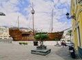 Santa maria ship in santa cruz de la palma columbus museum canary islands spain Royalty Free Stock Photography